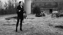 Soprano Kiera Allison warms up her voice